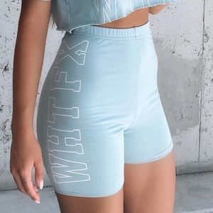 Take It Easy Bike Shorts in Mint from White Fox